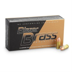 BLAZER Brass 9mm/P FMJ 8,0g 50 szt